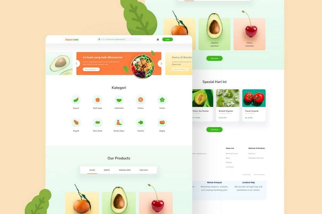 eCommerce Marketplace Sketch Template