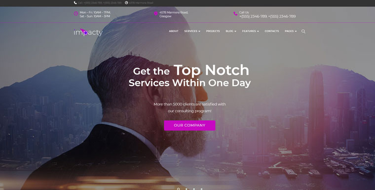 Impacty- Business Consulting Elementor WordPress Theme.