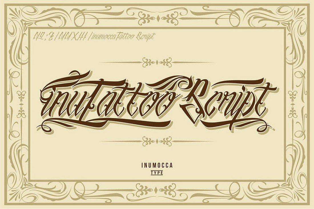 inuTattoo Script - Tattoo Font