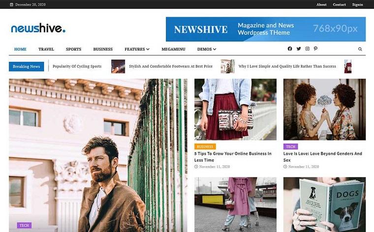 Newshive- Creative, Flexible Magazine, News Portal & Blog WordPress Theme.