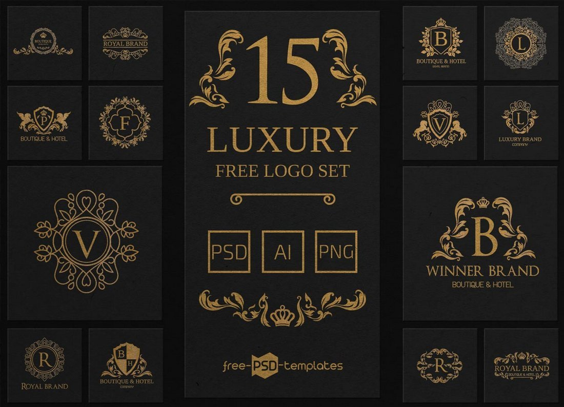 15 Free Luxury Logo Templates