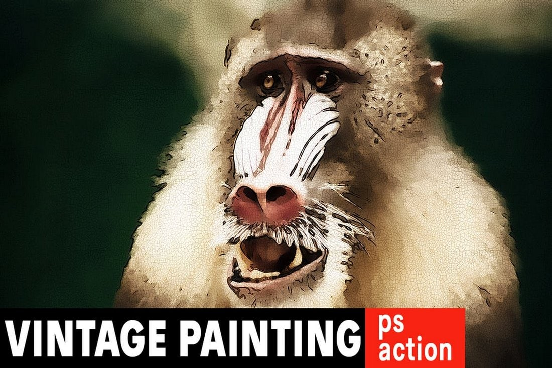 18th Century Painting Photoshop Action