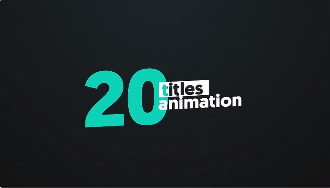 20 Creative Animated Titles for Premiere Pro