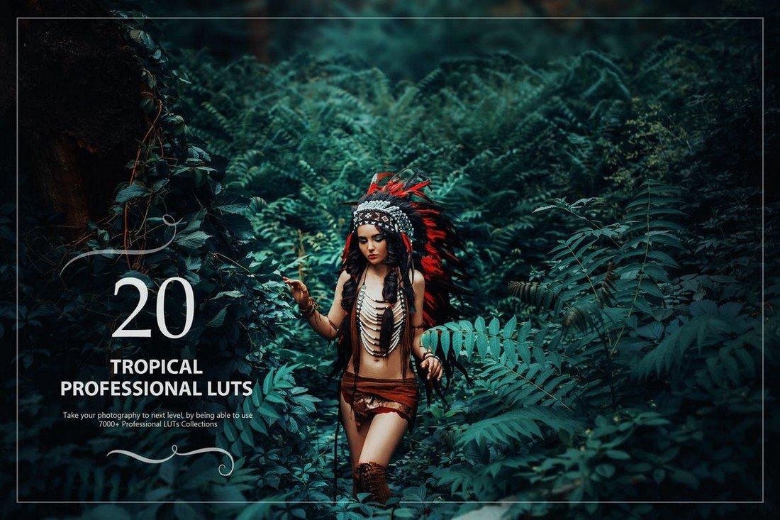 20 Tropical Lightroom LUTs Pack