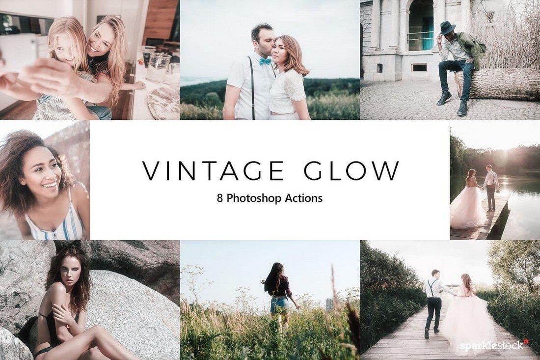 20 Vintage Glow Photoshop Actions
