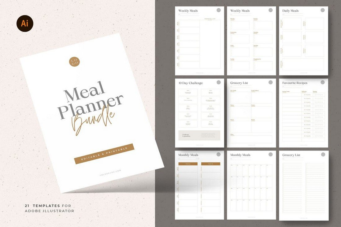21 Macro Meal Planner Templates