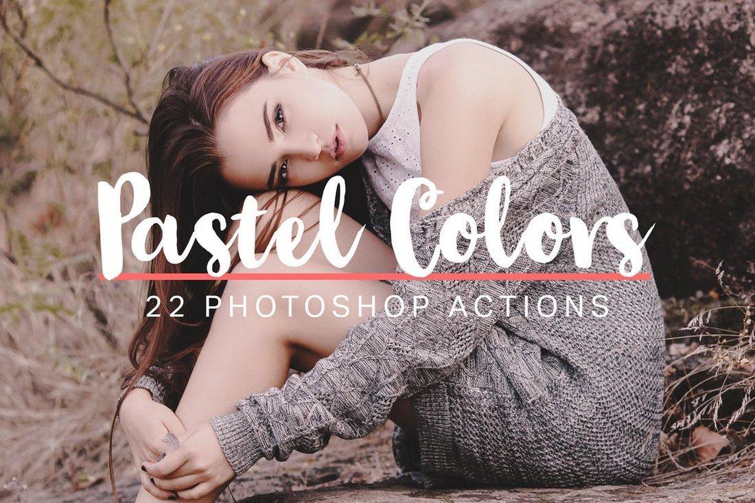 22 Soft Pastel Photoshop Instagram Filters