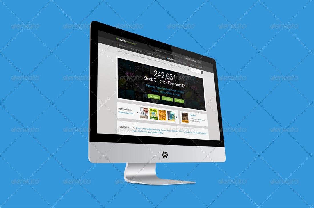 23 Desktop Screen Display Mockups