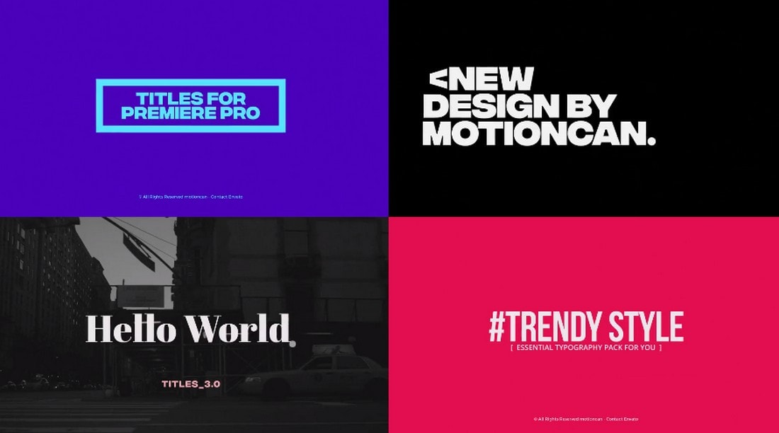 25 Titles and Lower Thirds for Premiere Pro