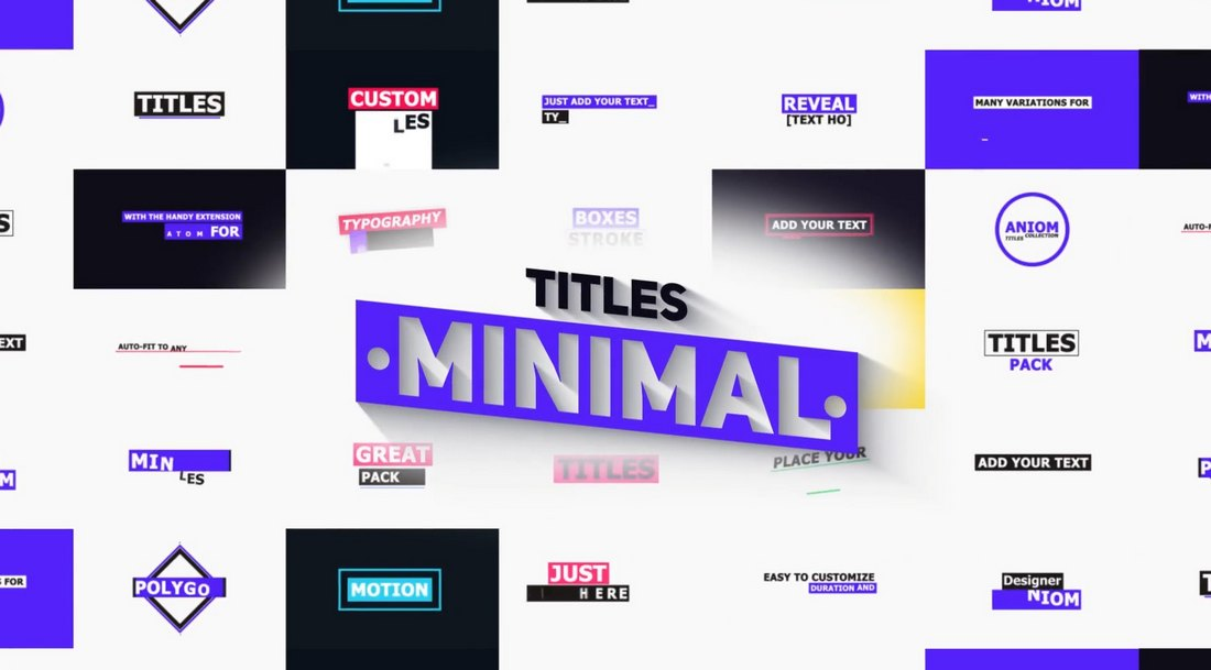 275 Typography, Titles & Lower Thirds for Premiere Pro