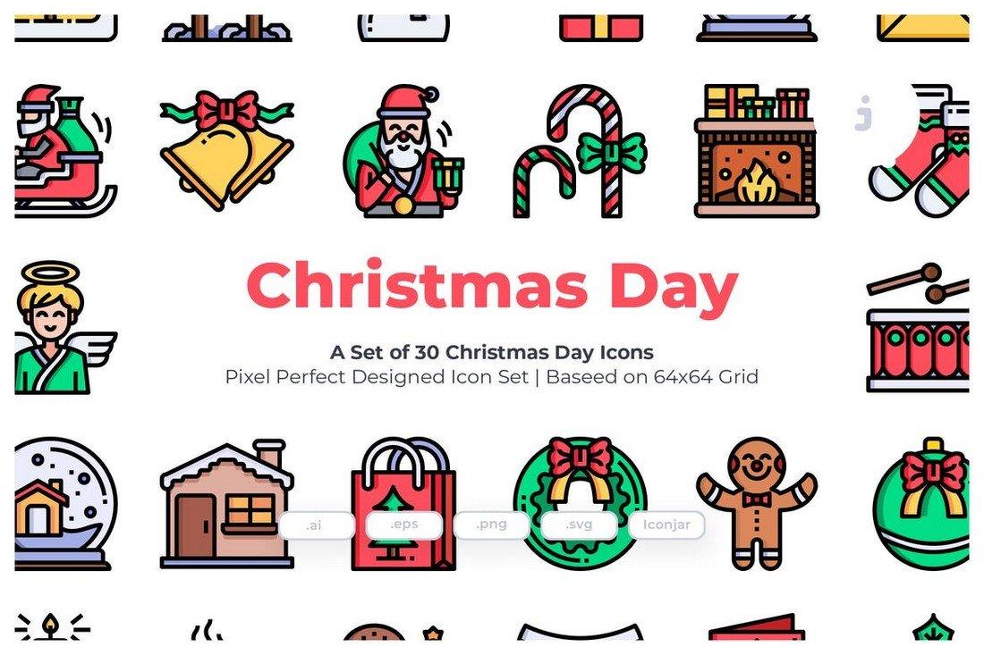 30 Christmas Day Icons