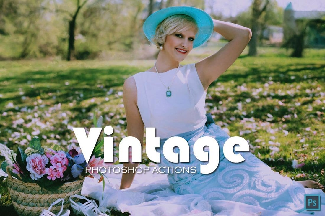 30 Free Vintage Photoshop Actions Collection