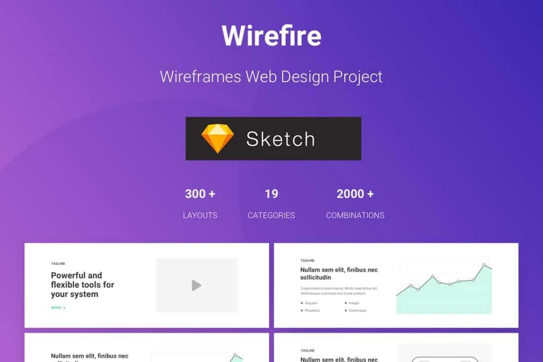 300+ Web Design Wireframe Sketch Templates