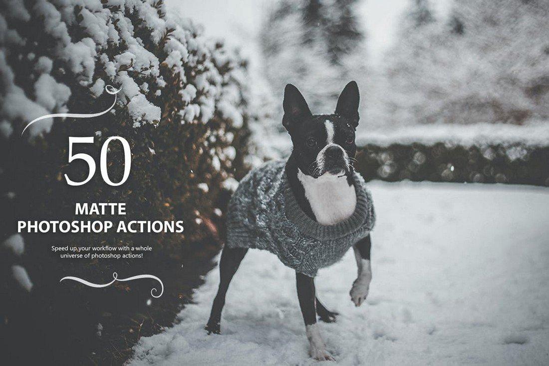 50 Matte Photoshop Actions