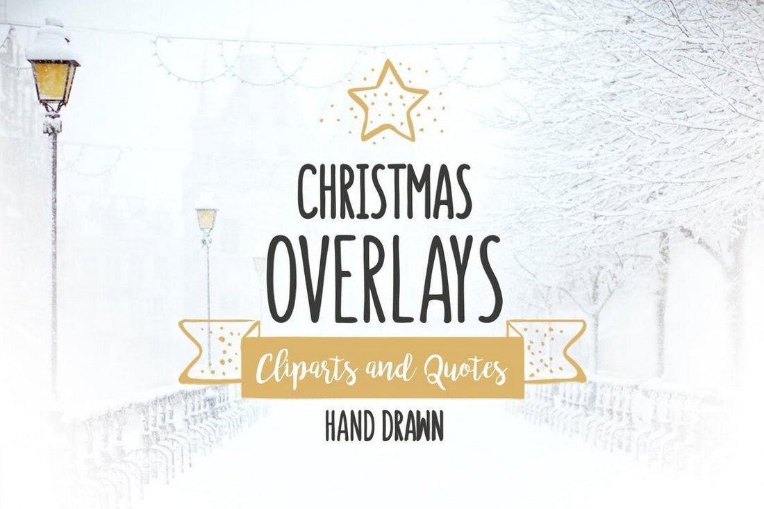 52 Christmas Overlays & Vector Set