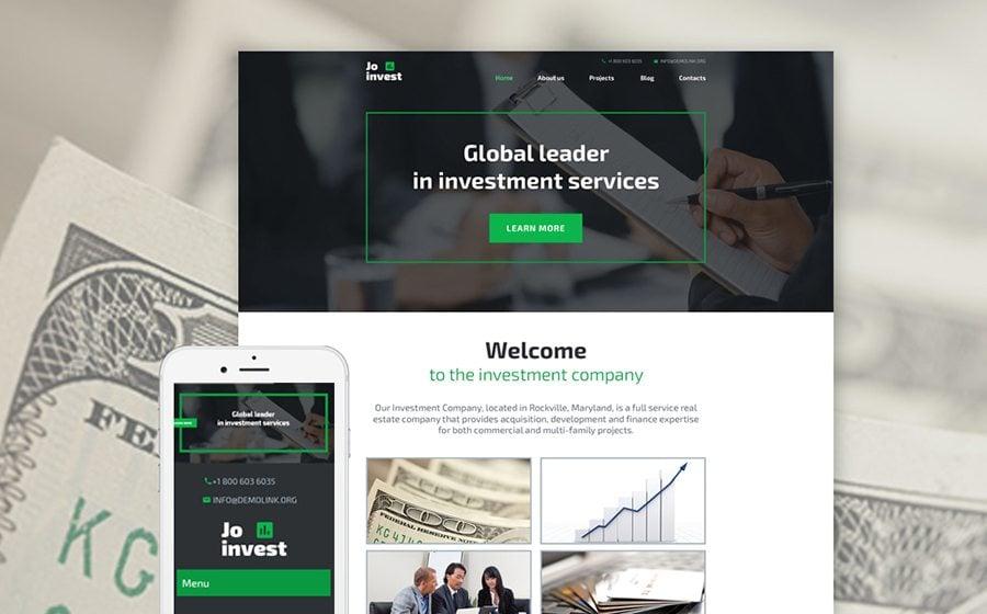 Jo Invest WordPress Theme