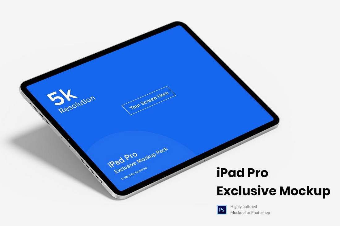 5K iPad Pro Mockup Template