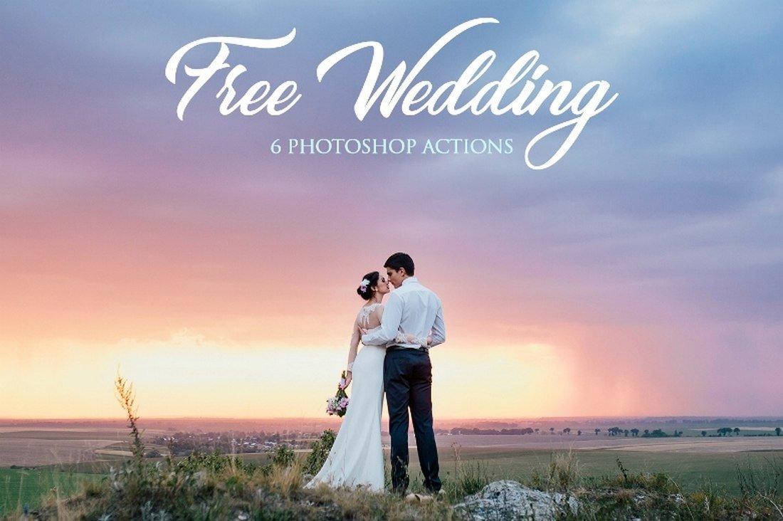 6 Free Wedding Photoshop Actions