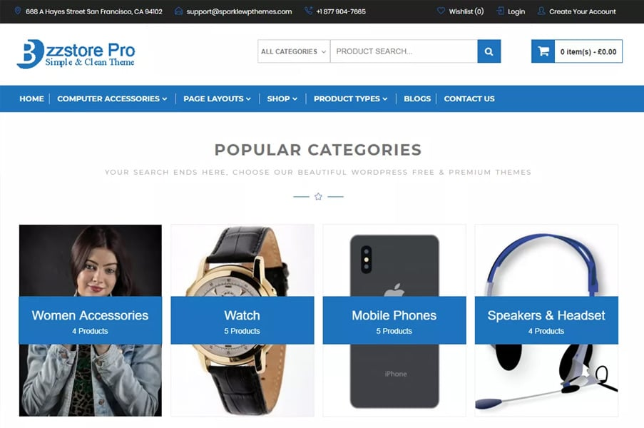 Online eCommerce By sparklewpthemes
