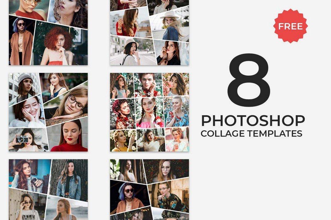 8 Free Photoshop Collage Templates