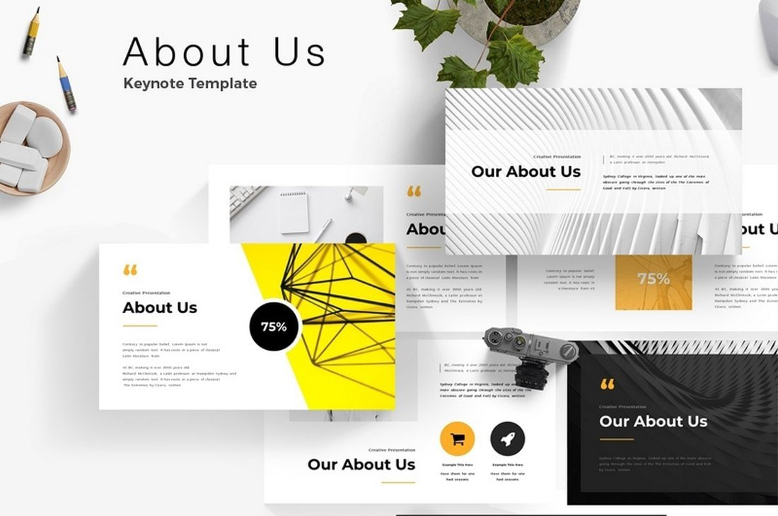 About Us - Free Keynote Template