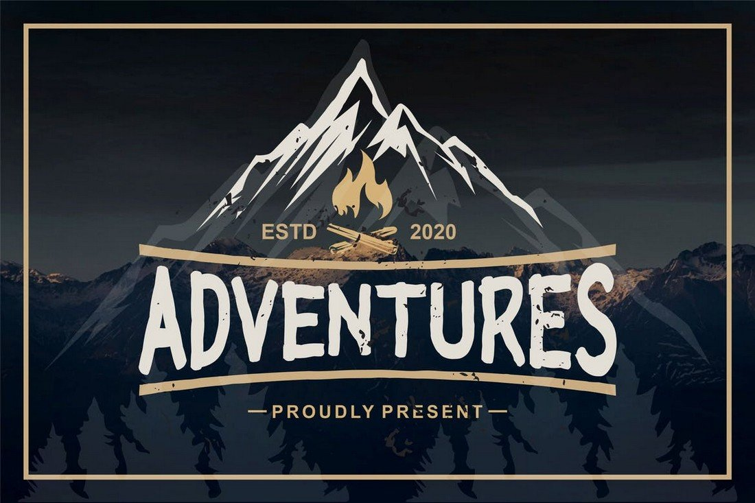 Adventures - Bold Procreate Font