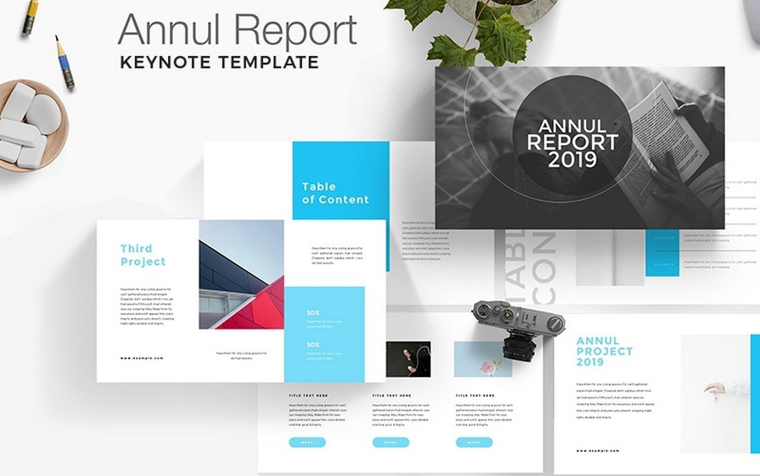Annual Report - Free Keynote Template