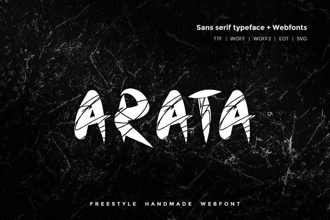Arata - Handmade Freestyle Procreate Font
