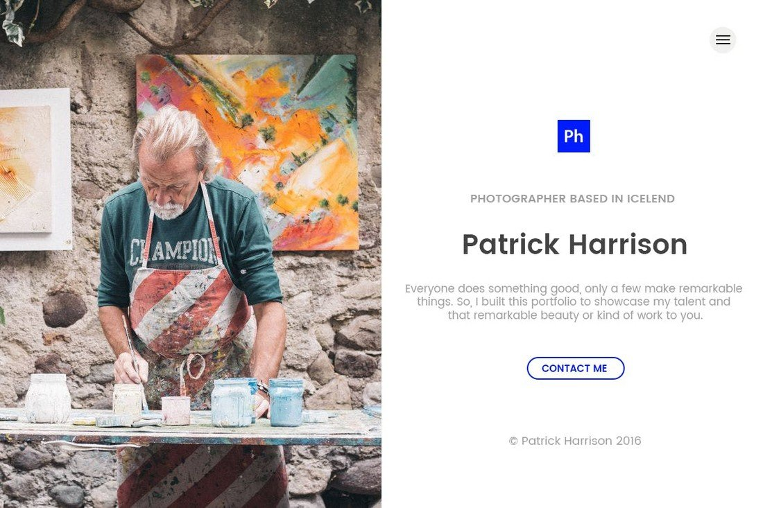Aria Creative Split Screen HTML Template