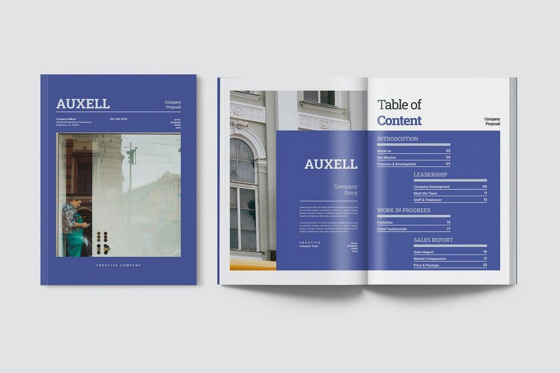Auxell - Elegant Business Proposal Word Template