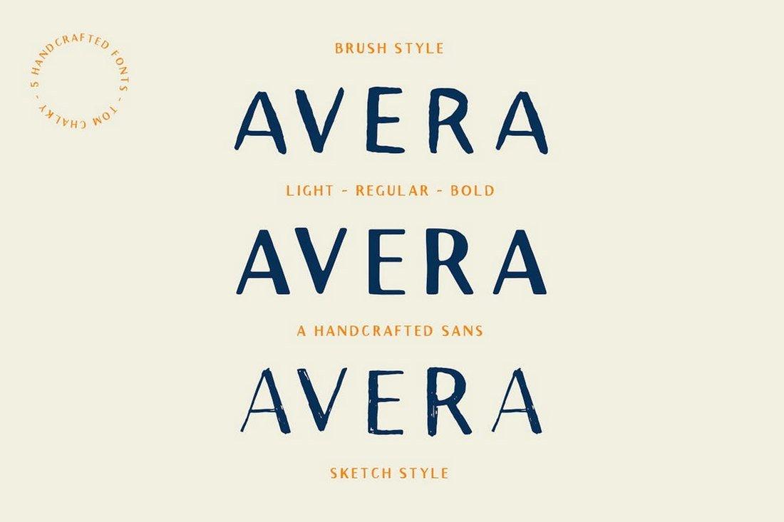 Avera Sans - Font Family