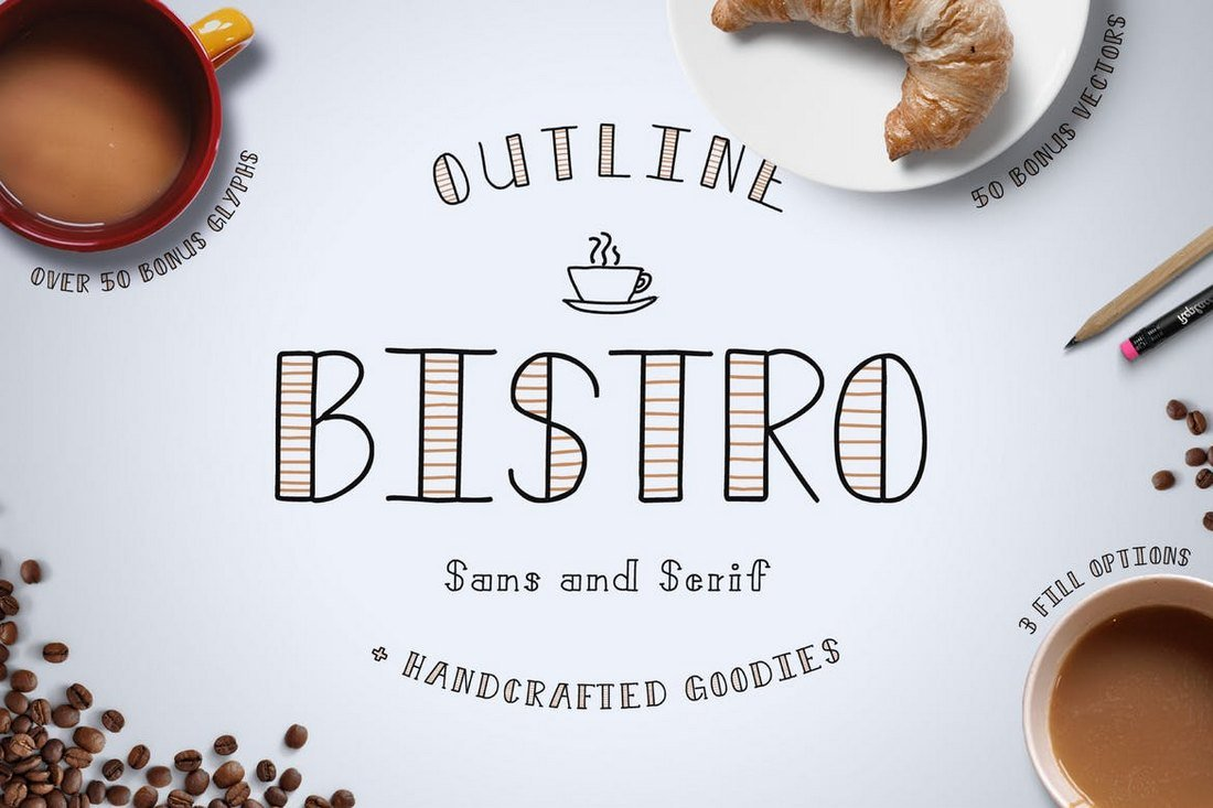 Bistro - Handcrafted Font