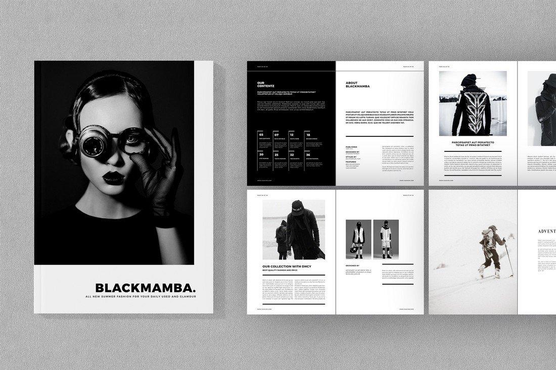 Blackmamba - Free Fashion Brochure Template