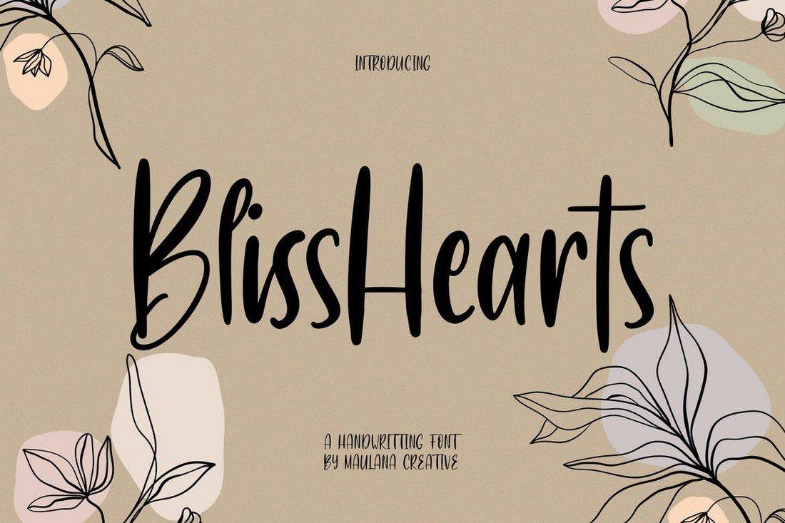 BlissHearts - Creative Procreate Font