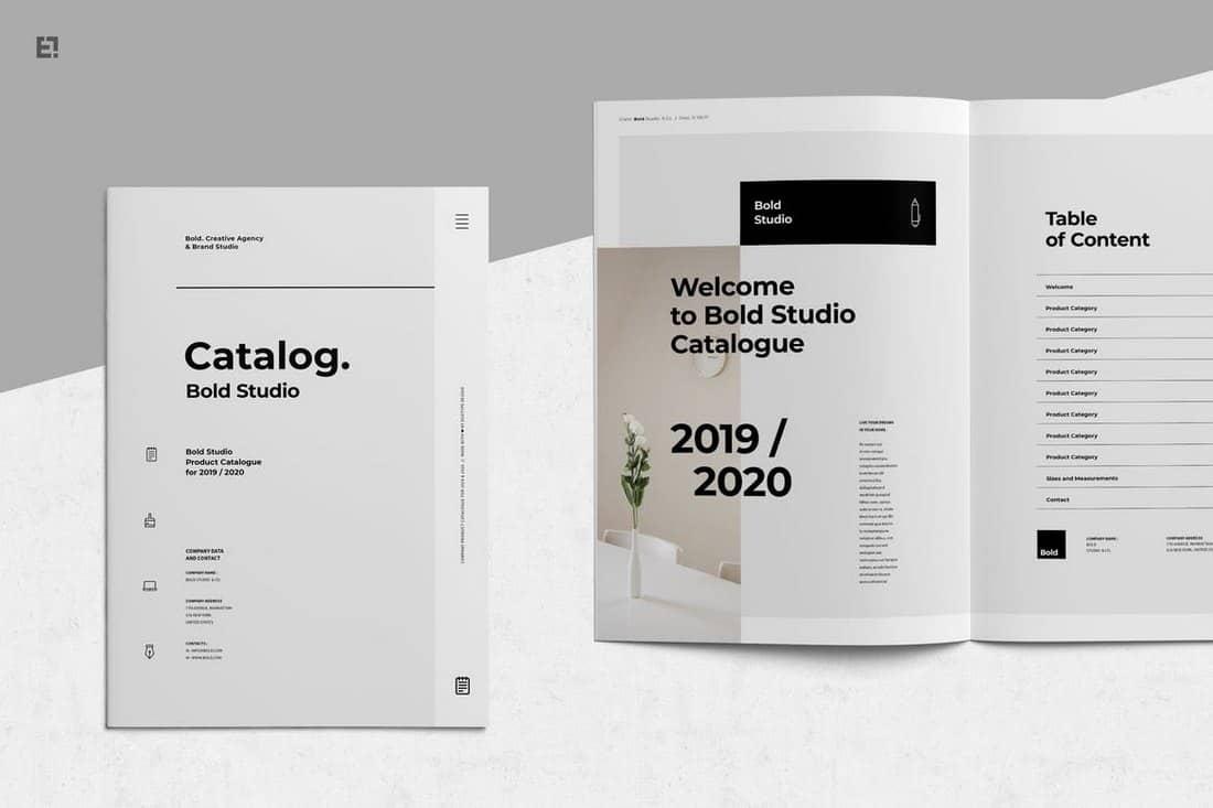 Bold Catalog Corporate Brochure Template