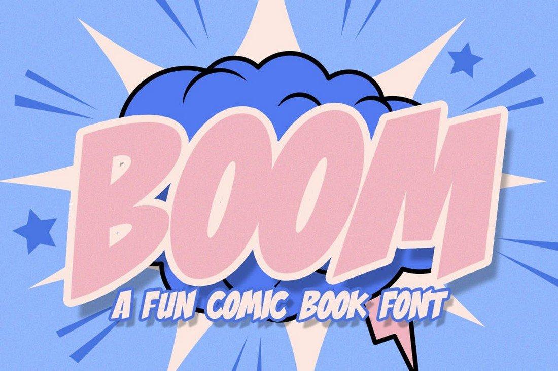 Boom - Comic Font for Procreate