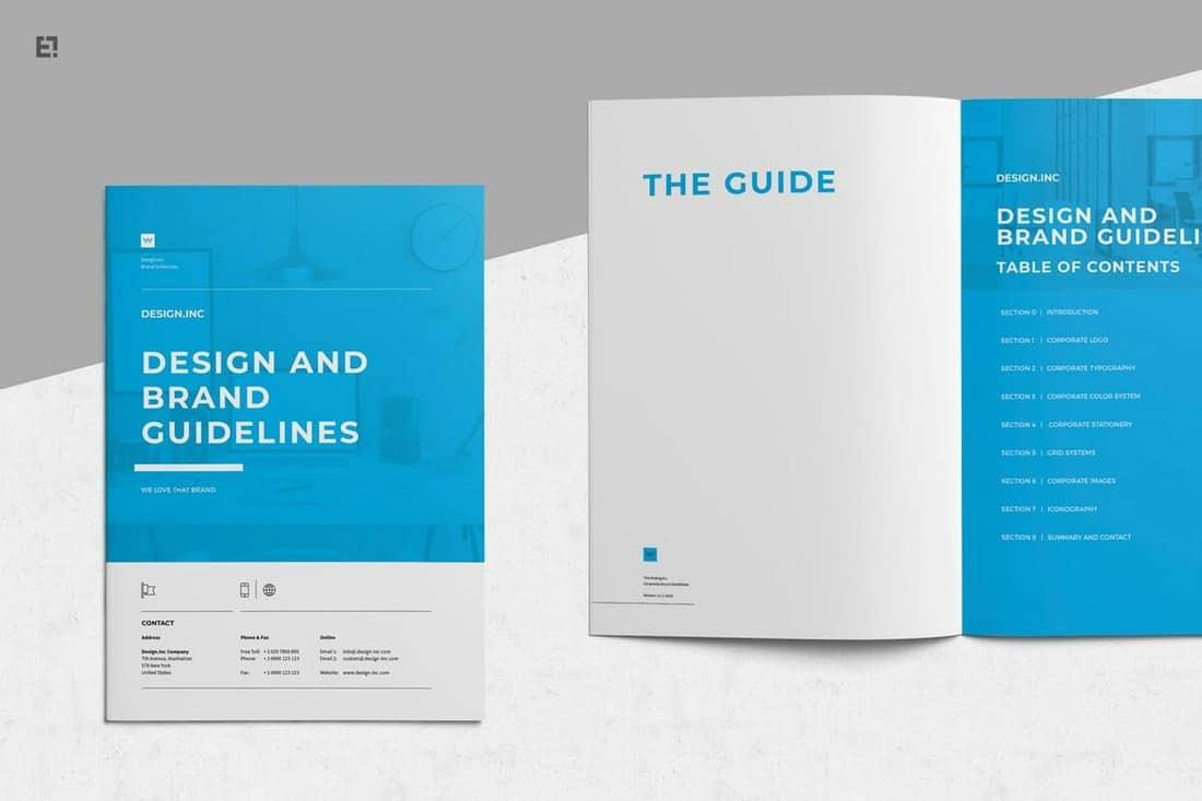 Brand Manual Brochure Template