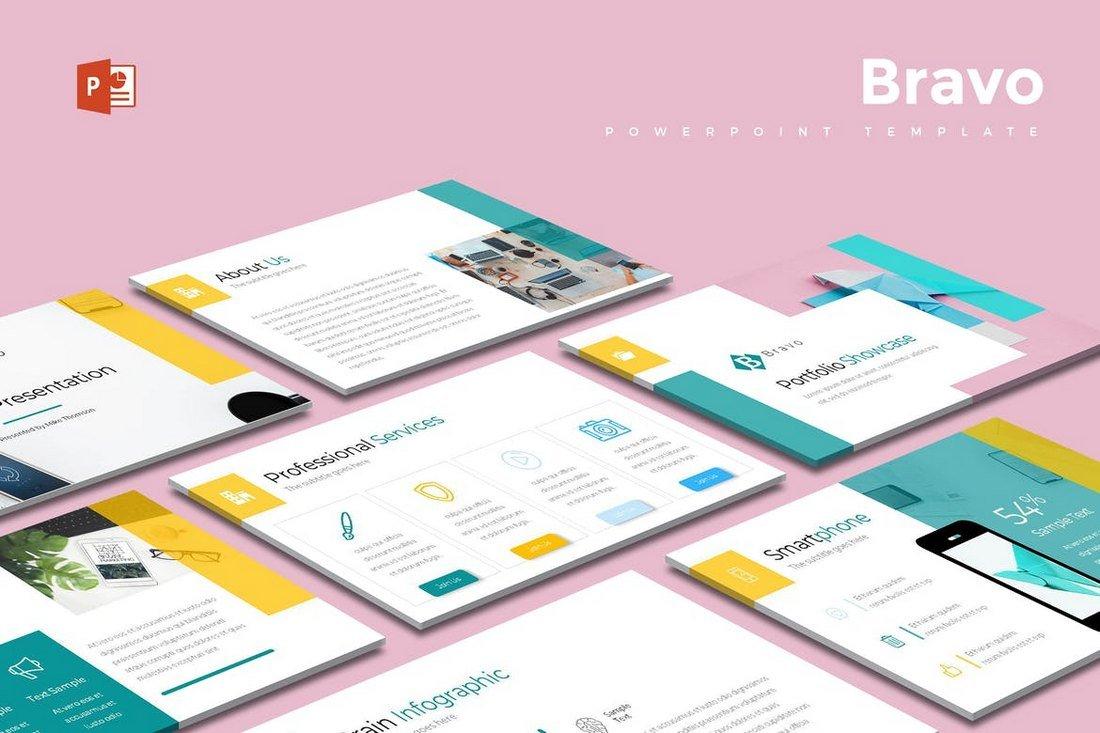 Bravo - Modern & Cool Powerpoint Template