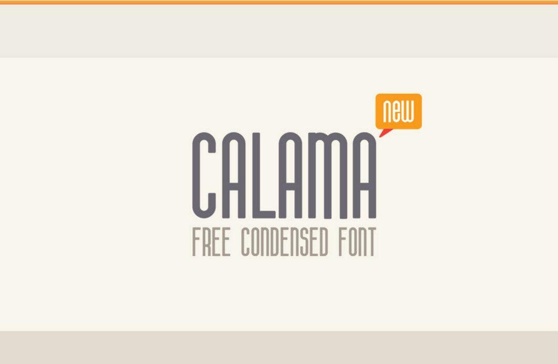 Calama - Free Condensed Font