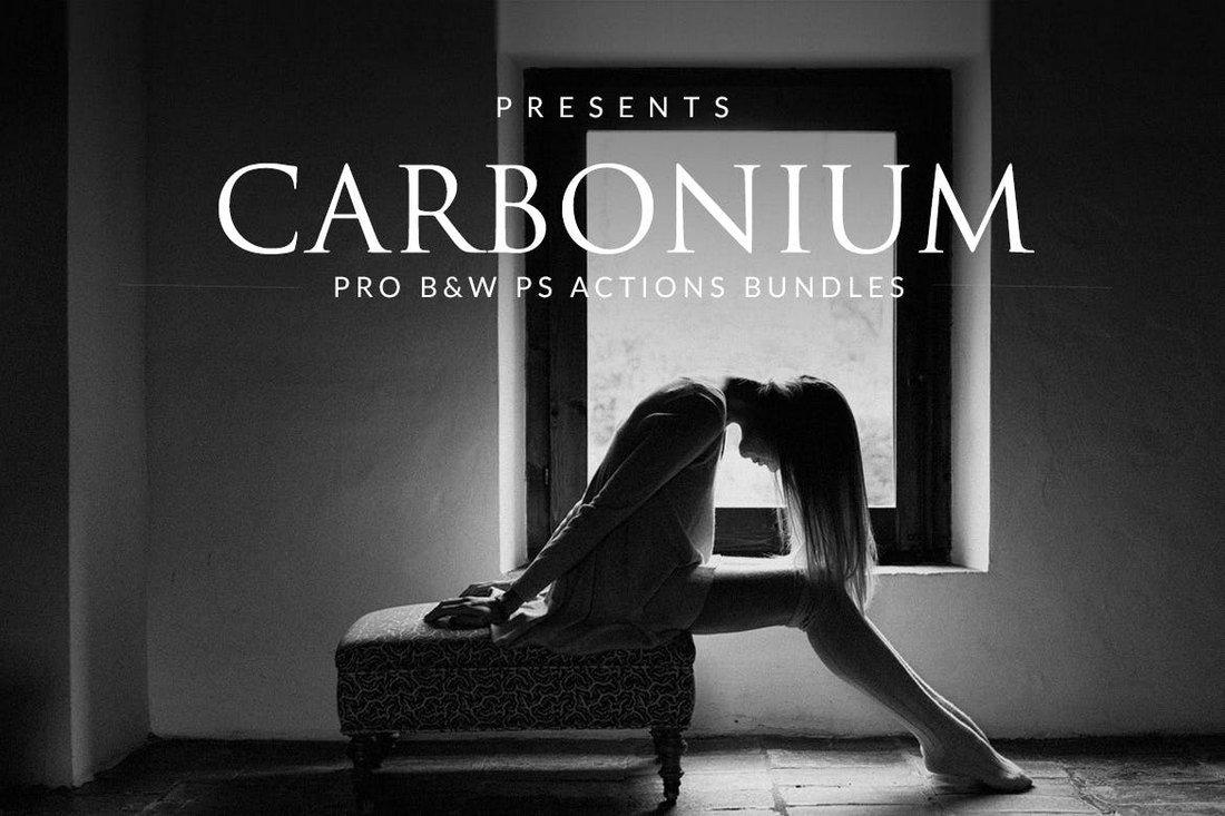 Carbonium - Black & White PS Actions