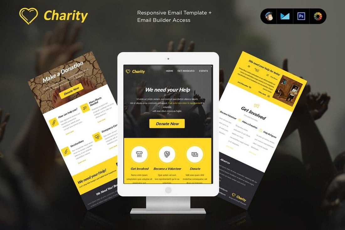 Charity - MailChimp Email Newsletter Template