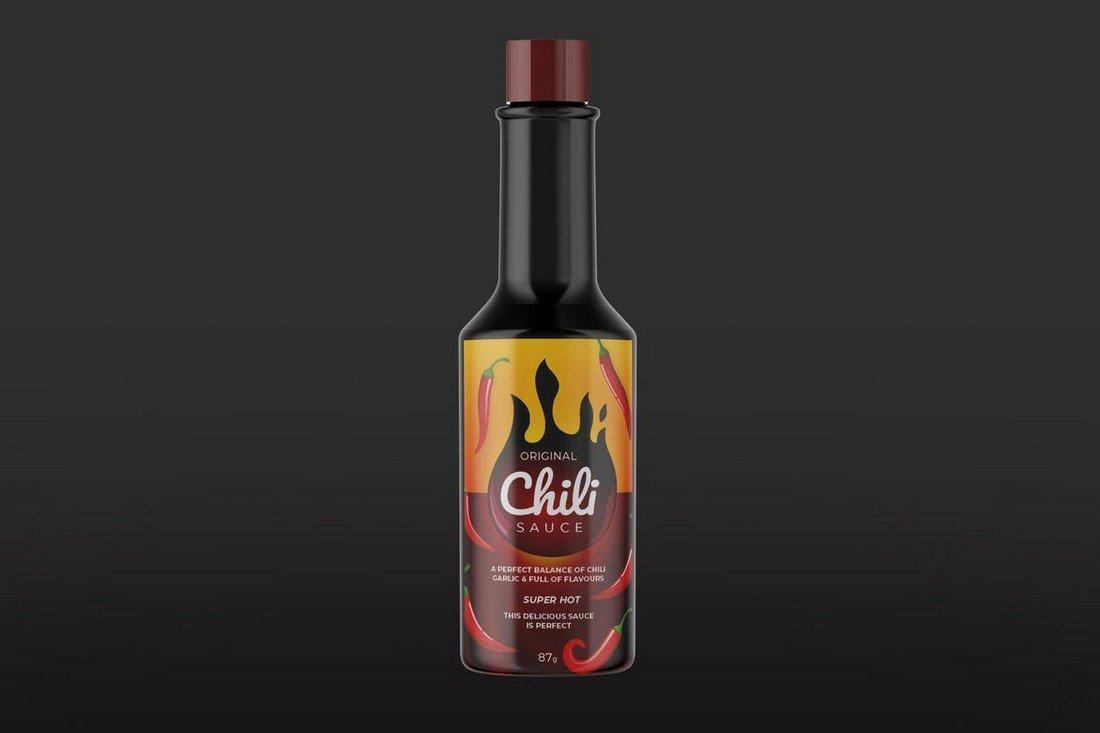 Chili Sauce Label Design Template
