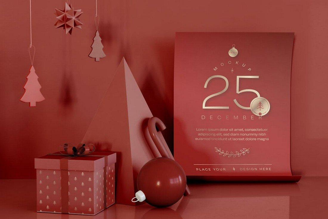 Christmas Promotion Mockup Template