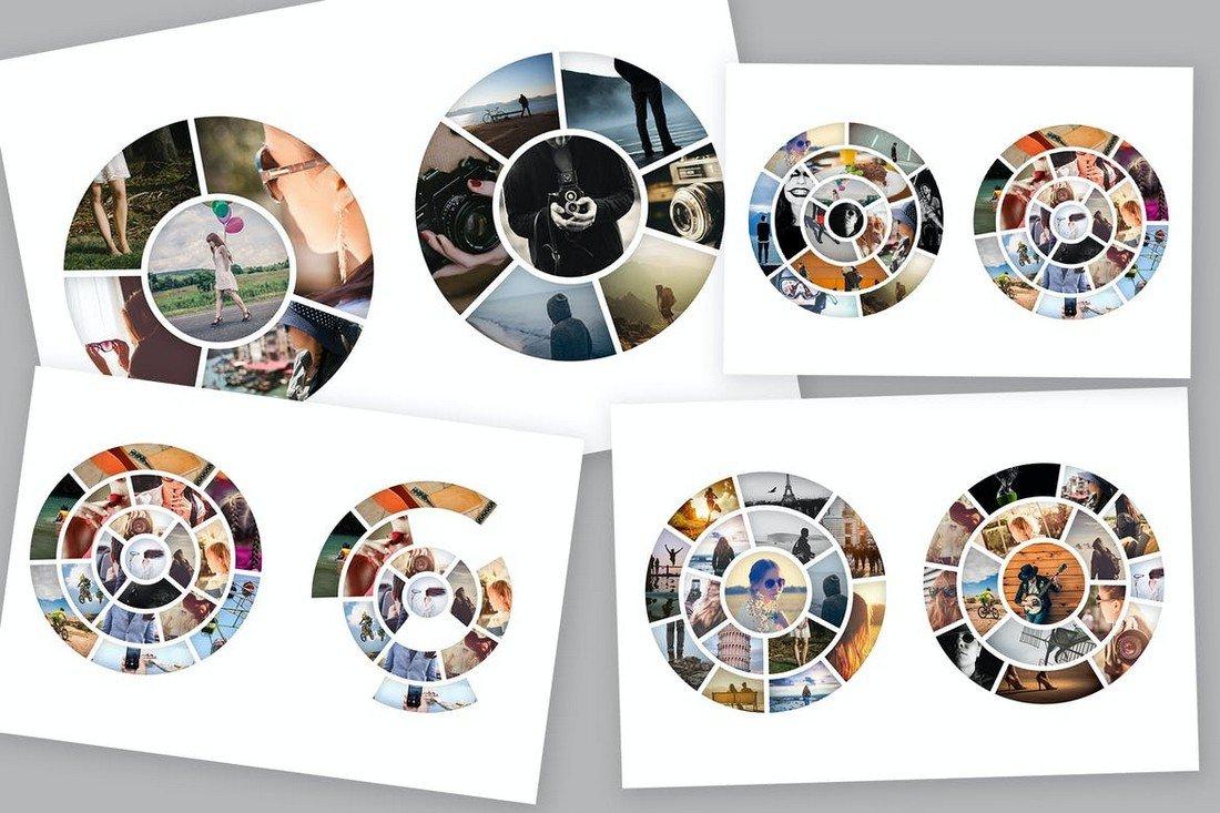 Circle Photo Collage Templates