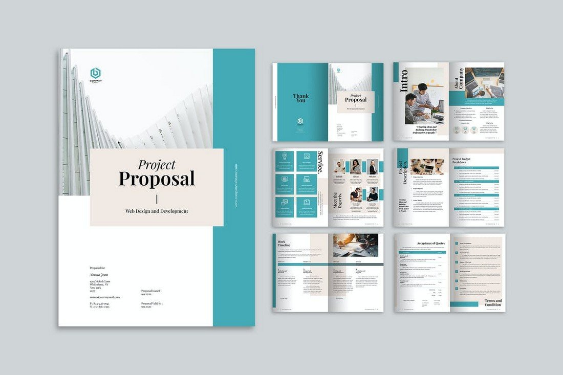 Clean Project Proposal Brochure Template