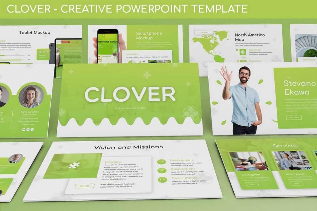 Clover - Modern Powerpoint Template