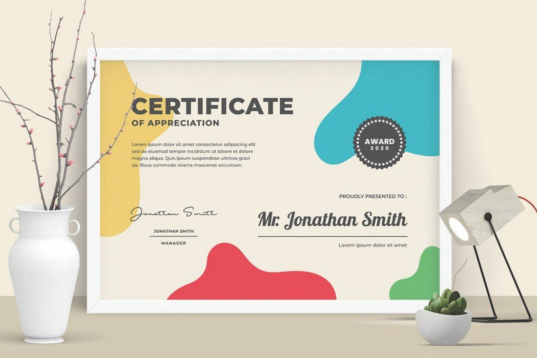 Colorful & Modern Certificate Template