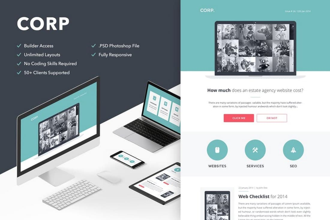 Corp - Business Email Newsletter Template