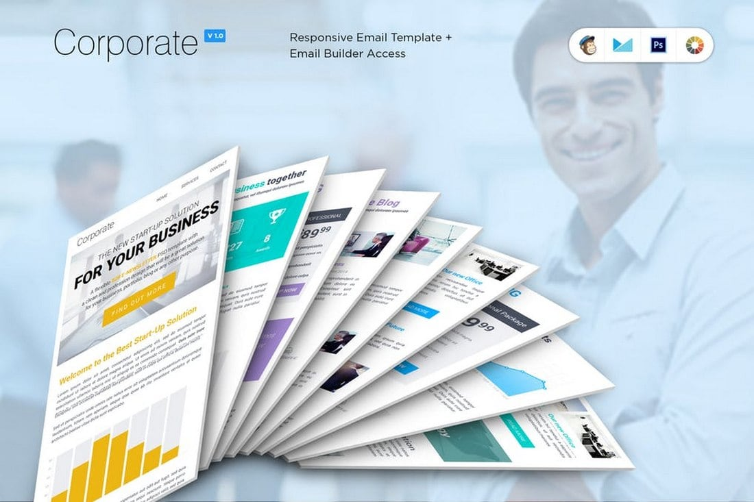 Corporate B2B MailChimp Newsletter Template