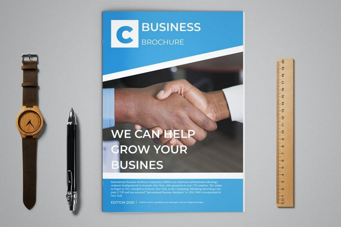 Corporate Business Brochure 12-Page Template